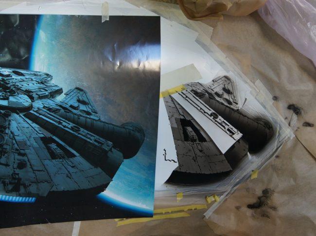 Le vaisseau spatial Millennium Falcon piloté par Han Solo - Star Wars