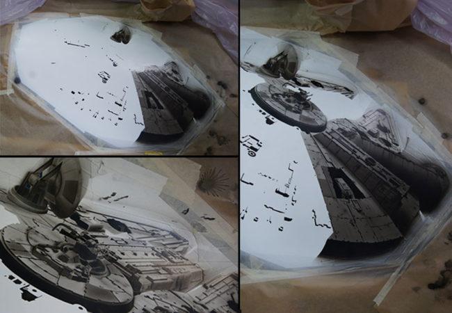 Détails du vaisseau spatial le Millennium Falcon piloté par Han Solo - Star Wars