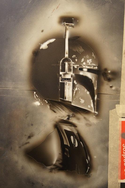 Dessin à l'aérographe de BOBA FETT - Star Wars