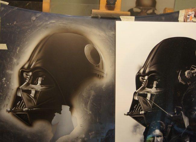 Dark Vador, dessin et photo modèle